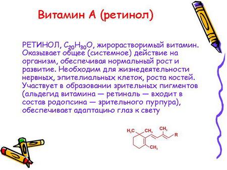 Витамин А – ретинол